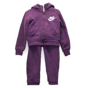 NIKE Purple Toddler Girl's Sweatsuit 2T